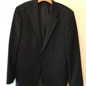 Alfani Black Pinstripe Two Button Suit